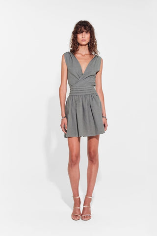 Sir The Label Stefi Knotted Mini Dress Olive // PREORDER
