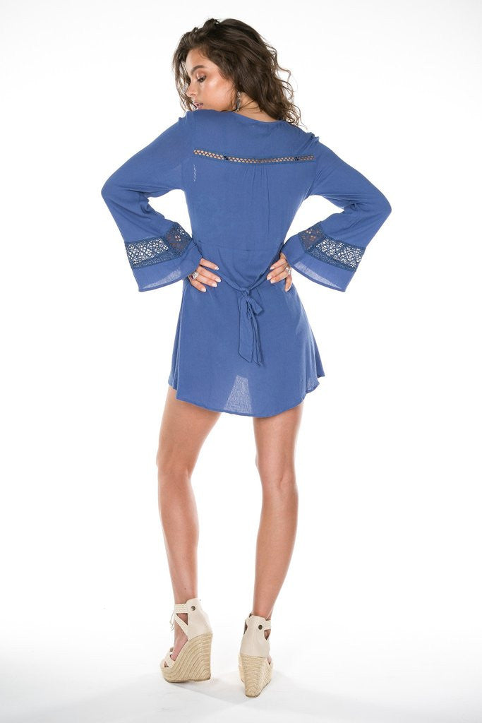 Arnhem Eclipse Mini Dress Aegean Blue