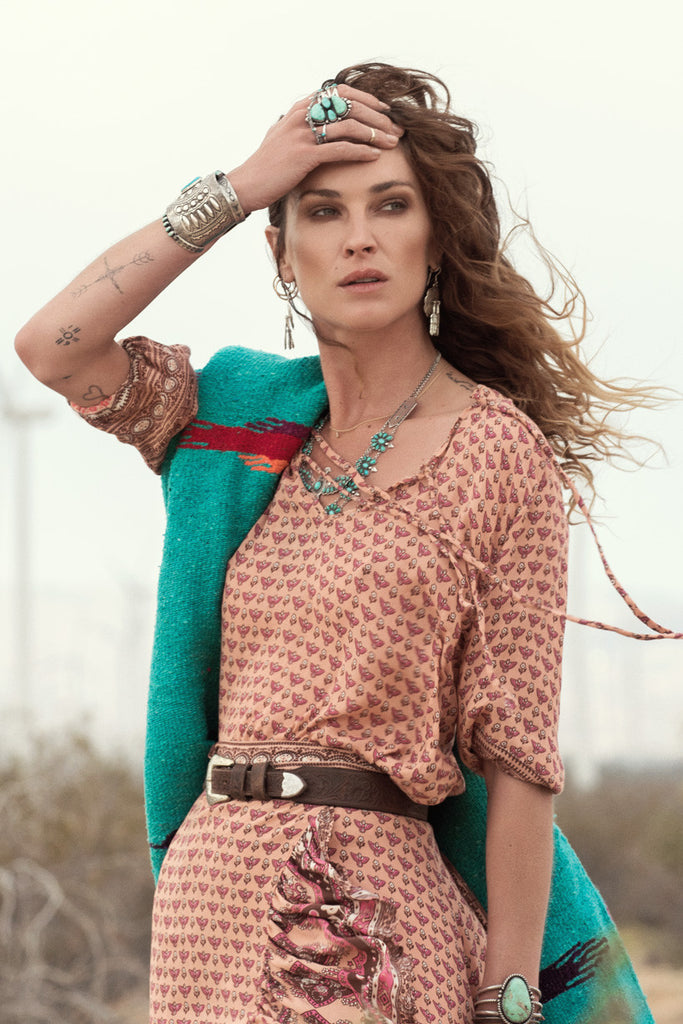 Spell Sunset Road Blouse Peach - Call Me The Breeze - 4