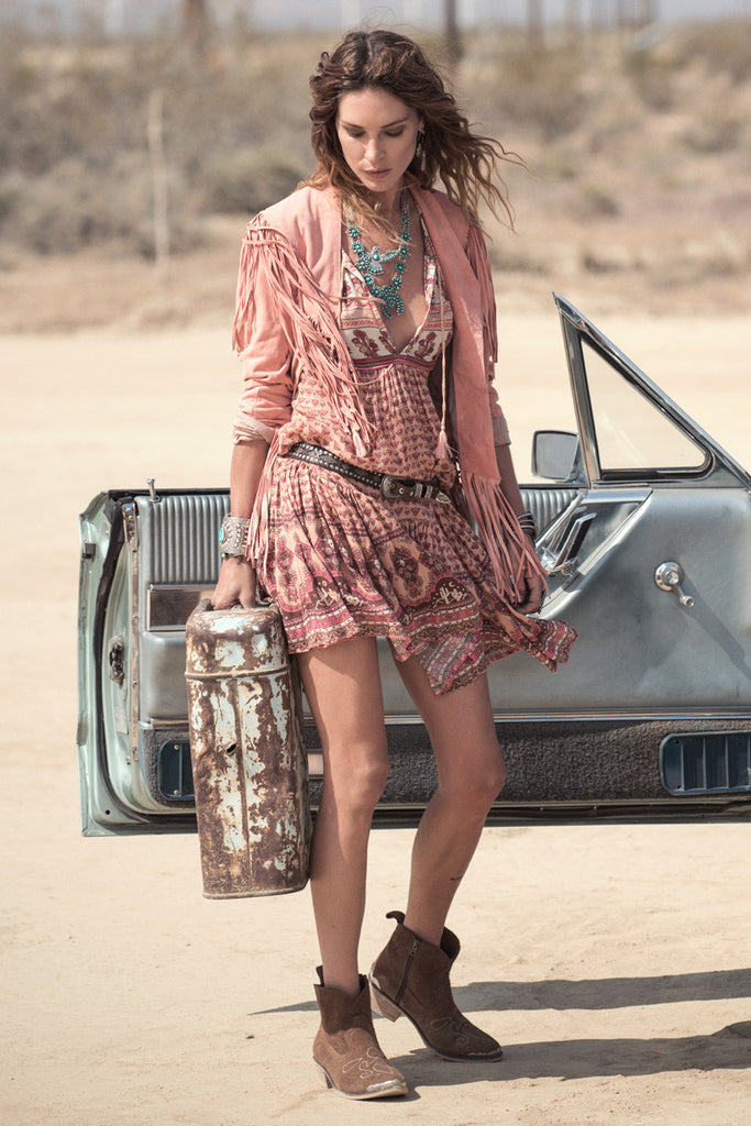 Spell Sunset Road Boho Dress Peach - Call Me The Breeze - 4