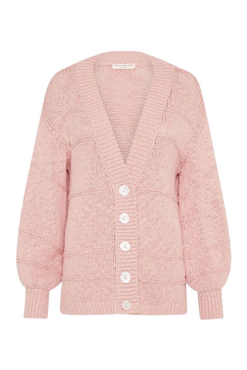Spell Pearl On Pearl Knit Cardigan Rose