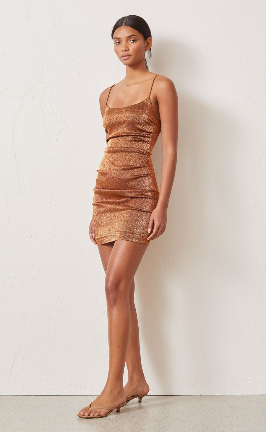 Bec and Bridge Bronze Baby Mini Dress Copper