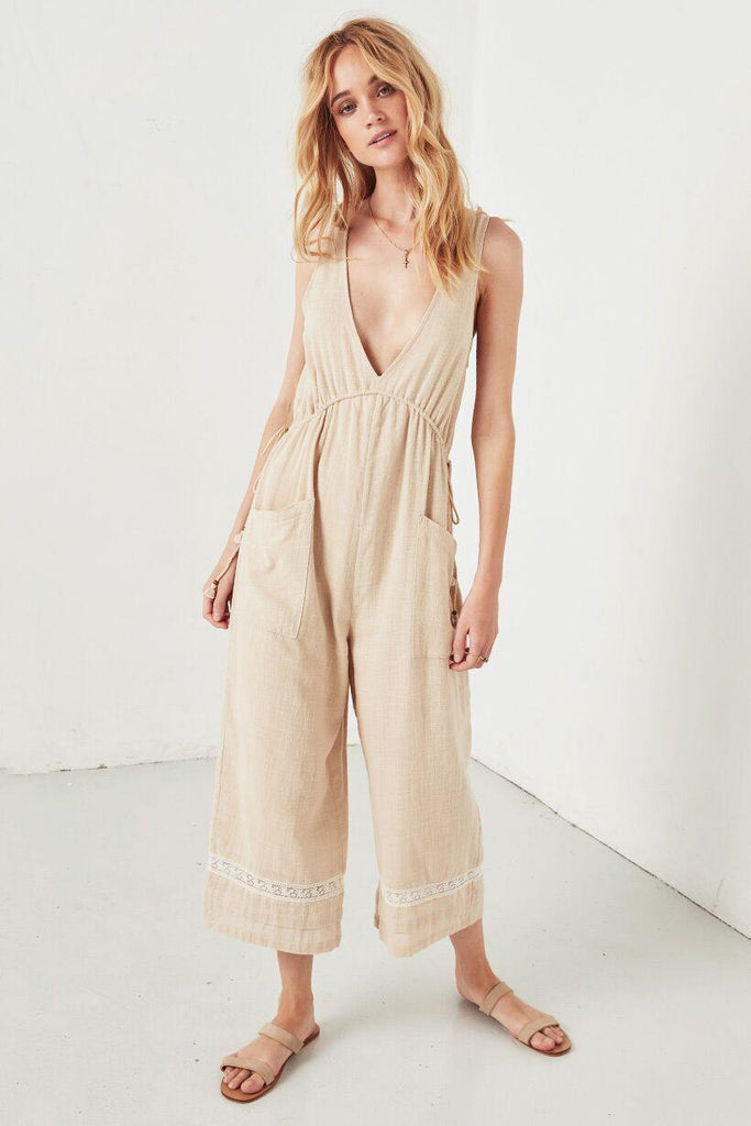Spell Paloma Jumpsuit Neutral