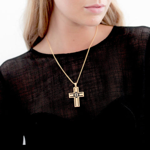 F and H Vivienne Cross Pendant Gold - Call Me The Breeze