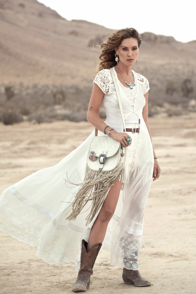 Spell Wild Belle Gown White - Call Me The Breeze - 4