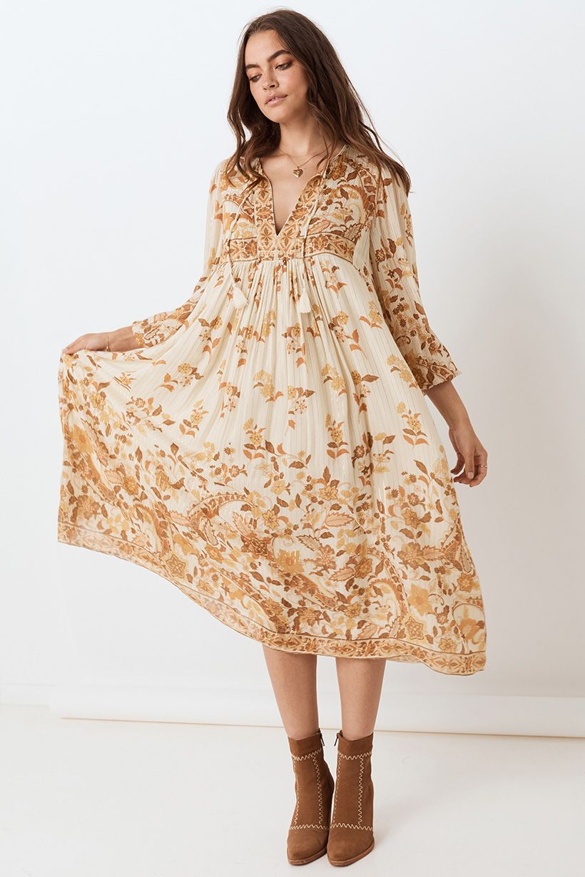 Spell Hendrix Boho Dress Cream