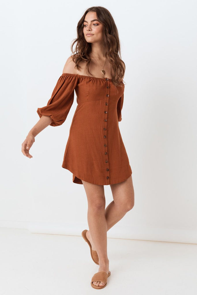 Spell Rani Mini Dress Copper