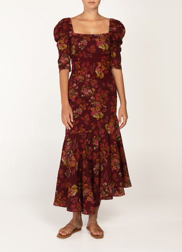 Peony Renaissance Holiday Maxi Dress