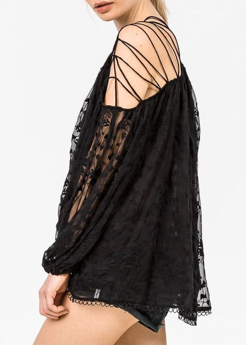 Zimmermann Eden Laced Top Noir - Call Me The Breeze - 3