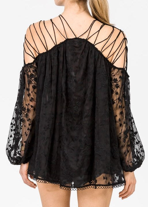 Zimmermann Eden Laced Top Noir - Call Me The Breeze - 4