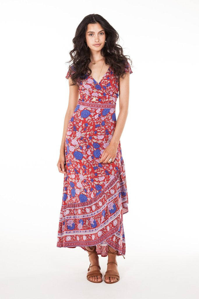 Arnhem Spanish Rose Wrap Dress Scarlett - Call Me The Breeze - 5