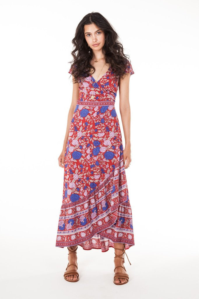 Arnhem Spanish Rose Wrap Dress Scarlett - Call Me The Breeze - 6