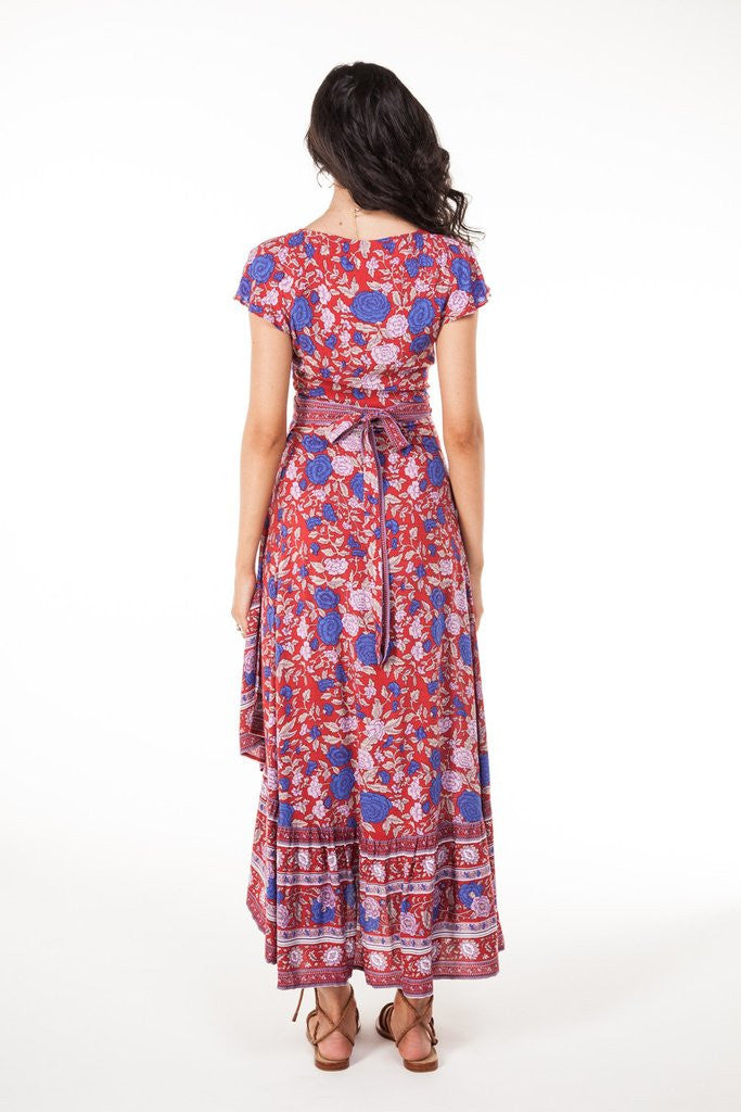 Arnhem Spanish Rose Wrap Dress Scarlett - Call Me The Breeze - 7