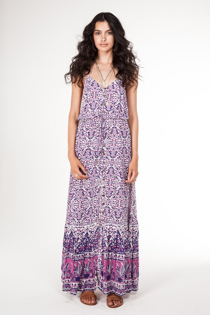 Arnhem Flores Maxi Dress Orchid - Call Me The Breeze - 6
