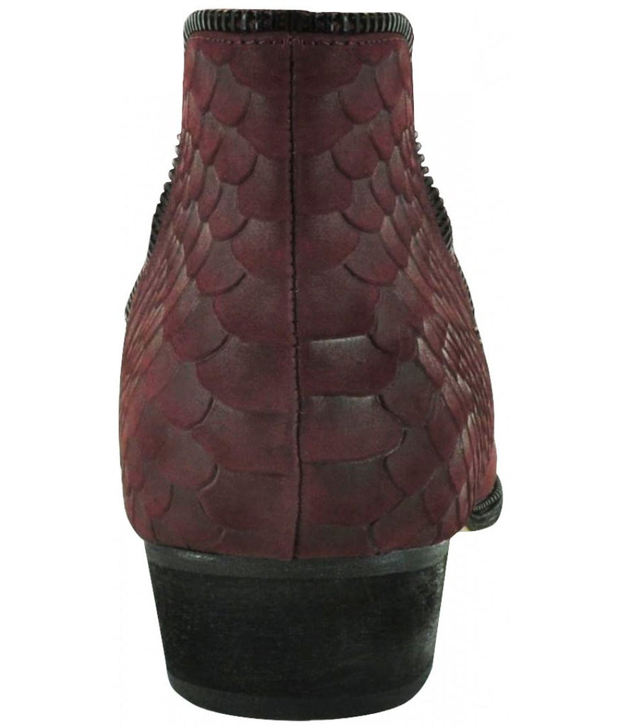 Senso Blake II Wine Waxed Snake Boots - Call Me The Breeze - 3