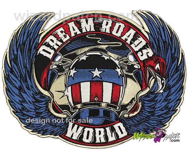 Jacket Rider Biker Iron on Embroidery Cloth Patch Sew on Badge RIP Feelings