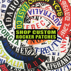 Custom Made Embroidered Rocker Patches / Badges - Side, Front or Rear