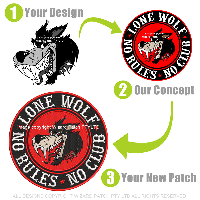 3 EASY STEPS TO MAKE YOUR CUSTOM EMBROIDERED BADGES AND PATCHES FOR YOUR CLUB OR BUSINESS LOGO DESIGN