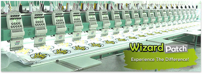 Wizard Patch, the best and biggest fleet of embroidery machines