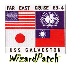 TOP GUN USS GALVESTON CLG-3 CRUISE G1 Jacket Patch