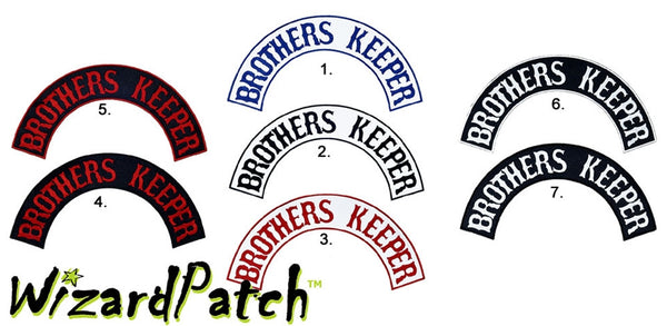 BROTHERS KEEPER TOP BIKER MC ROCKER BEST EMBROIDERY GUARANTEED