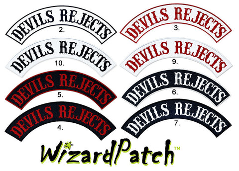 DEVILS REJECTS TOP BIKER MC ROCKER BEST EMBROIDERY GUARANTEED AVAILABLE