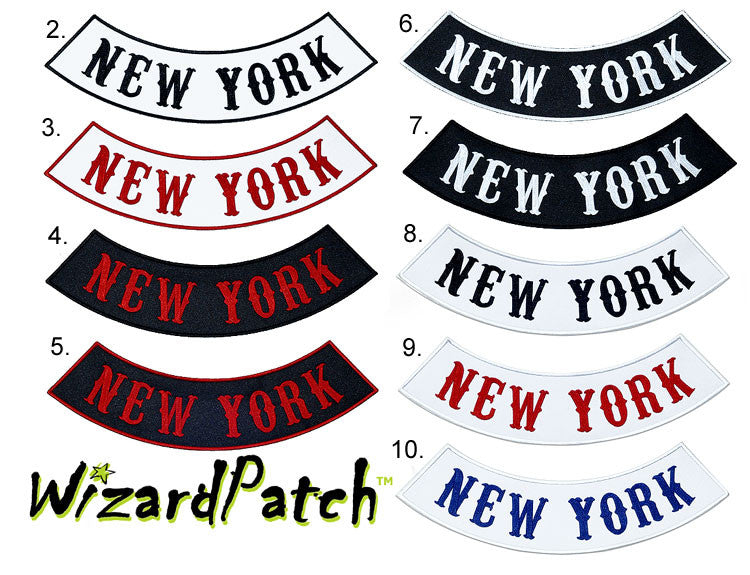 "NEW YORK BOTTOM BIKER MC ROCKER 14"" BEST EMBROIDERY GUARANTEED"