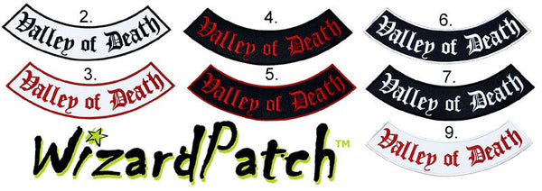 "EASY RIDERS VALLEY OF DEATH 14"" BEST EMBROIDERY GUARANTEED"