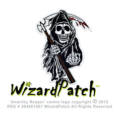 ANARCHY REAPER LARGE BACKPATCH, ANARCHY REAPERS DEISGNED BY WIZARD PATCH