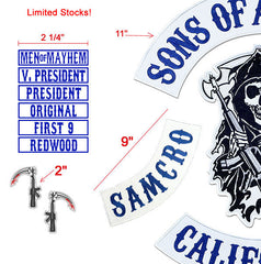 SONS OF OUTLAW BY 'AN R KEY'  CHILD'S SET, BEST EMBROIDERY GUARANTEED