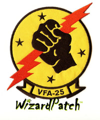 VFA-25, USN NAVY, TOP GUN ORIGINAL MOVIE JACKET PATCH, G1 FLIGHT JACKET USN PATCH, TOM CRUISE,