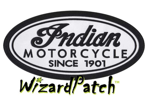 INDIAN LARGE OVAL PATCH, indian motorcycles