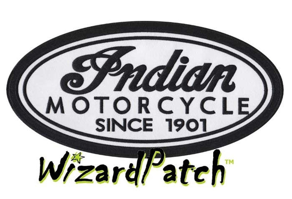 "INDIAN  5"" OVAL PATCH, indian motorcycles"