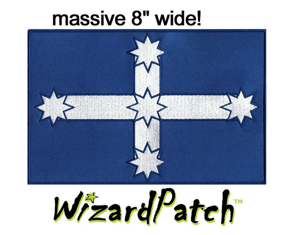 "EUREKA AUSTRALIAN 8"" FLAG PATCH, BEST EMBROIDERY GUARANTEED"