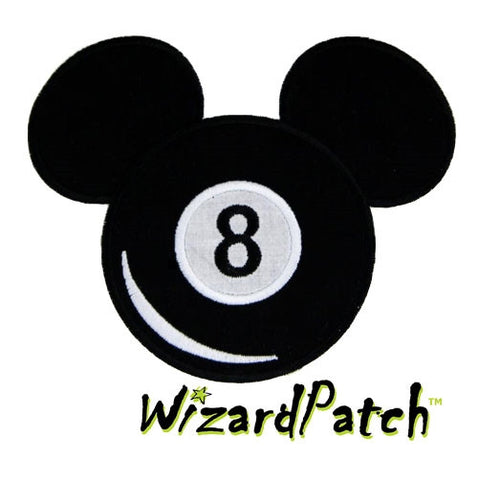 8 BALL MICKEY MOUSE PATCH
