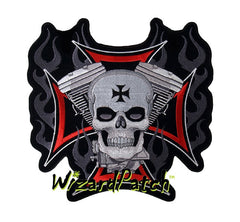 V-TWIN SKULL IRON CROSS 4