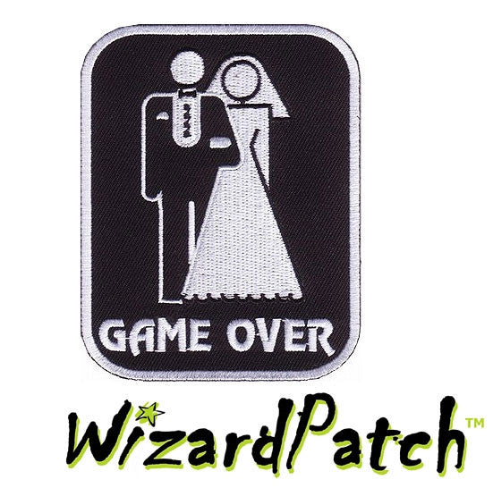 GAME OVER FUNNY BIKER PATCH
