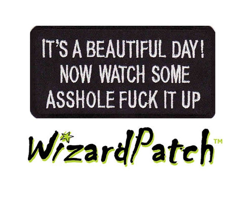 BEAUTIFUL DAY FUNNY BIKER PATCH