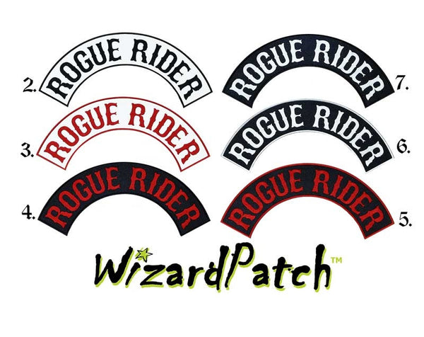 ROGUE RIDER TOP ROCKER BEST EMBROIDERY GUARANTEED
