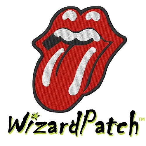"""ROLLING STONES LOGO PATCH 3"""" & 4"""" OPTION!"""