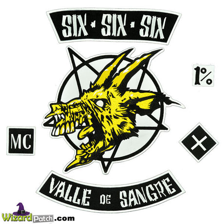 HELL RIDE SIX SIX SIX'ers PATCH SET