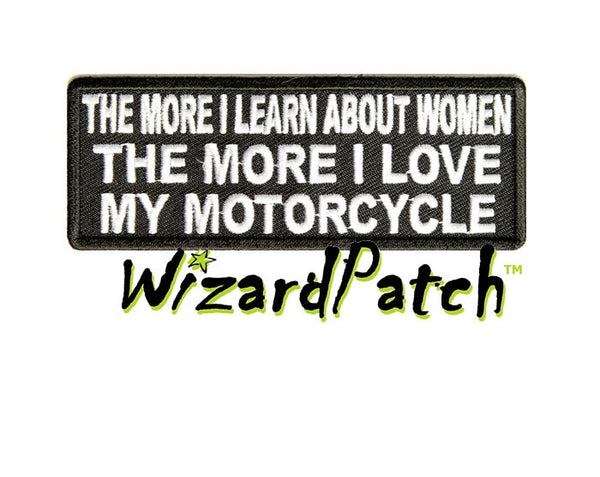 LEARN ABOUT WOMEN FUNNY BIKER PATCH