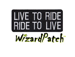 LIVE TO RIDE, RIDE TO LIVE BAR PATCH