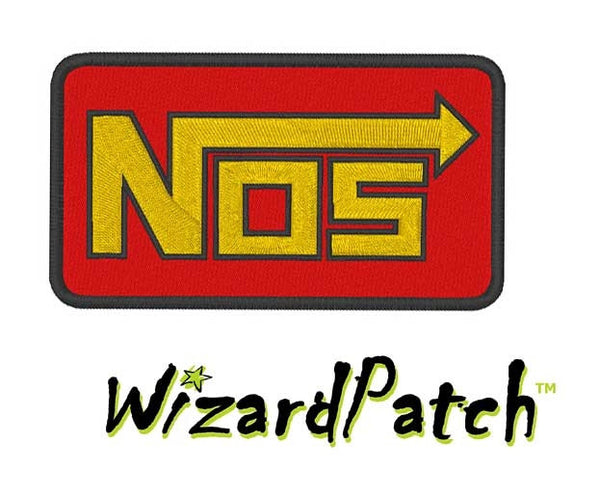 NOS NITROUS OXIDE BRAND LOGO BAR Patch 3.5 inch WIDE