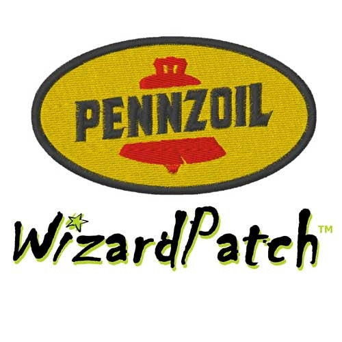 PENZOIL BRAND LOGO OVAL Patch 3.5 inch WIDE