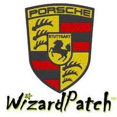 PORSCHE MOTORS BRAND LOGO SHIELD Patch 2 3/4 inch WIDE