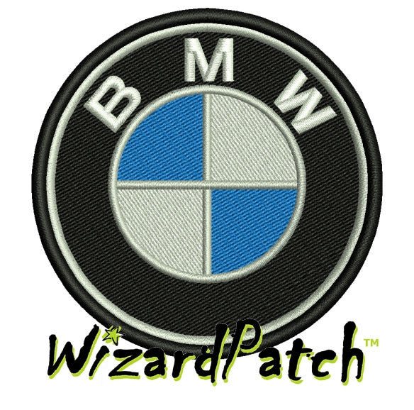 BMW DISC BRAND LOGO Patch 3 inch WIDE