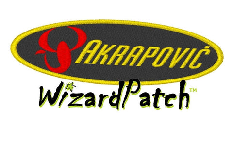 AKRAPOVIC LOGO OVAL Patch 4 INCH WIDE
