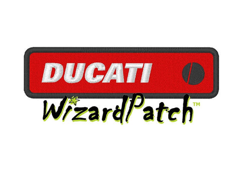 DUCATI BAR LOGO Patch 4 inch WIDE