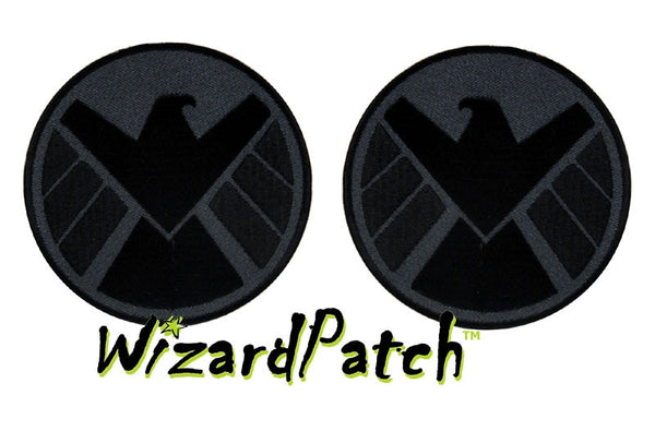 AVENGERS S.H.I.E.L.D. PATCH SET OF TWO OPPOSITE FACING EAGLES